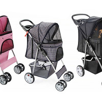Dog 4-Wheel Pet Stroller Dog