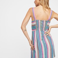 Free People Short N' Sweet Striped Mini Dress