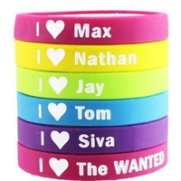 6pcs The WANTED Bracelet Lot POP Band Silicon Wristband