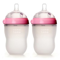 Comotomo™ 8-Ounce Baby Bottles in Pink (2-Pack)