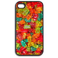 iPhone 4/4s Case - Delicious Gummy Bears Candy Pattern