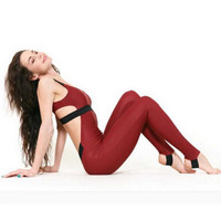 Elastic halter Yoga Workout clothes casual pants