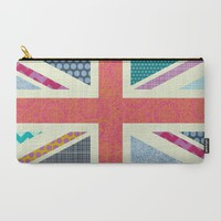 UK Beauty flag Carry-All Pouch by Sharon Turner   Society6