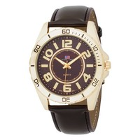 U.S. Polo Assn. Classic Men's US5160EXL Brown Dial Extra Long Brown Strap Watch