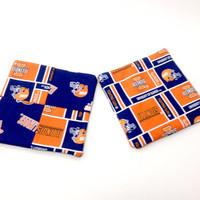 Illinois Mug Rugs, Illini Coasters,  Ilinois Trivet, University Illinois, Fighting Illini