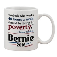 Bernie on Jobs and Poverty Printed 11oz Coffee Mug