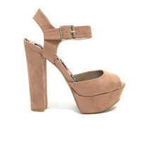 Walk Tall Platform Heels In Mocha
