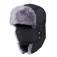 Winter Fur Hat with Facemask