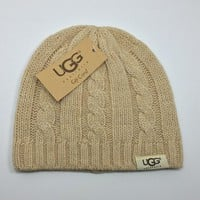 Ugg Women Embroidery Beanies Knit Hat Warm Woolen Hat-7