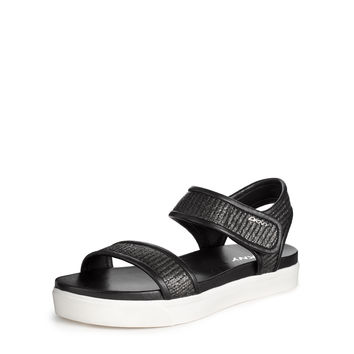 BELINDA RAFFIA LEATHER SANDAL