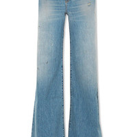 R13 - Raegan distressed high-rise wide-leg jeans