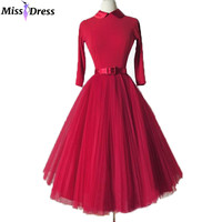 Women Summer Dresses 2016 Retro Audrey Hepburn Classic Half Sleeve Tulle Party Robe Rockabilly 50s 60s Vintage Dresses MISSDRESS