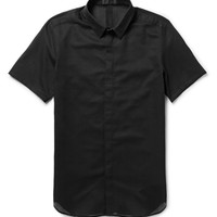 Calvin Klein Collection - Carbon Short-Sleeved Cotton-Mesh Shirt | MR PORTER