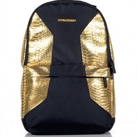 Cut & Sew Gold Snake Backpack | Sprayground Backpacks, Bags, and Accessories