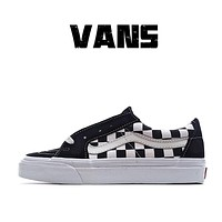 Vans Vance sk8-low classic men's black and white / black and white checkerboard low top casual board shoes canvas shoes