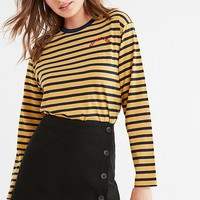 UO Shelly Twill Button-Down Mini Skirt | Urban Outfitters