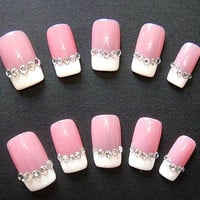Fake Nail-jewelry nails.3 colors for you.handmade nails.Christmas gift .gift for your friend