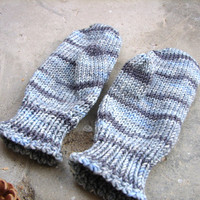 Kids winter mittens, baby gloves, grey mittens, childrens mittens, wool mittens, hand knit mittens