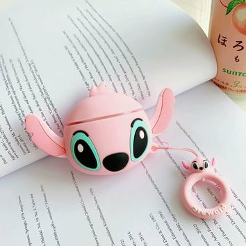Pink Stitch Face Protective Airpod Case