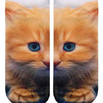 Kitty Ankle Socks