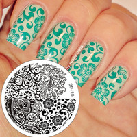 Mixed Abstract Patterns Nail Art Stamp Template Image Plate BORN PRETTY BP28