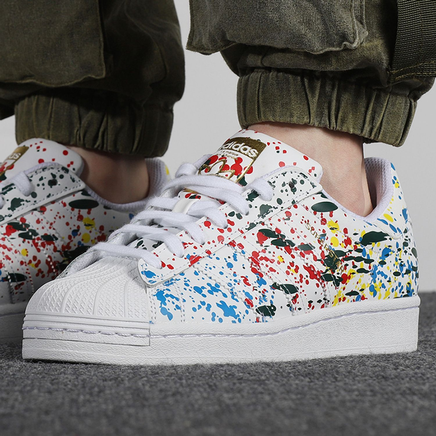 Image of Adidas SUPERSTAR PAINT SPLATTER Sneakers Shoes