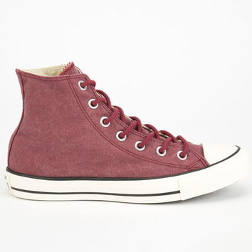 Converse Chuck Taylor All Star Hi Womens Shoes Maroon  In Sizes