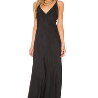 Line & Dot Adele Bias Maxi Dress in Black | REVOLVE