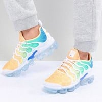Nike Air Vapor max Plus Wave Type Leisure Transparent air cushion sole Sneskers B-CSXY White/Yellow