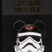 Disney Pins - Star Wars - Stormtrooper with Ear Hat - Pin 69449
