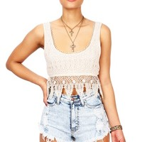 Idolized Crochet Crop Top | Cute Tops at Pink Ice
