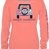 """Simply Southern """"Lets Be Besties"""" Top- Melon"""