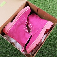 Dr. Martens Modern Classics 1460 Scrub Rose Red Boots