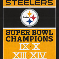 Pittsburgh Steelers NFL Super Bowl Poster 22x34