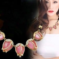 Jewelry New Arrival Shiny Gift Accessory Decoration Korean Stylish Shirt Floral Necklace [6586304583]