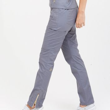 The Moto Pant in Graphite - Medical Scrubs by Jaanuu