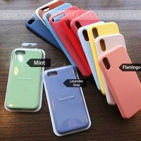 Have LOGO Original Offical Silicone Case For iPhone 7 8 Phone case For iPhone X XS Max XR Case For iPhone 6 6S Plus 5S SE Cases