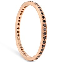 Catbird :: shop by category :: JEWELRY :: Wedding & Engagement :: Non-traditional :: Narrow Black Diamond Eternity Band