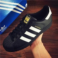 Adidas Fashion Shell-toe Flats Sneakers Sport Shoes-1