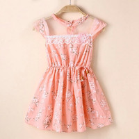 Baby Kids Girls Lace Floral Tunic Princess Dress One-Piece Party Summer Dresses = 1958515588