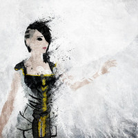 Borderlands - Angel Stretched Canvas by Melissa Smith