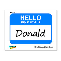 Donald Hello My Name Is Sticker