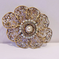 Vintage Floral Brooch Flower Pin Jewelry Fashion Accessories For Her