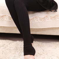 Design 298 - Coffee Ribbed Thickening Leggings