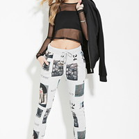 New York Graphic Joggers   Forever 21 - 2000153721