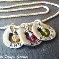 mothers birthstone necklace sterling silver personalized mother necklace