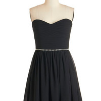 ModCloth LBD Strapless A-line Swift and Shirr Dress in Black