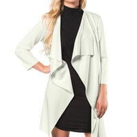 Daria Waterfall Jacket in Cream