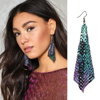 Holographic Drop Earrings
