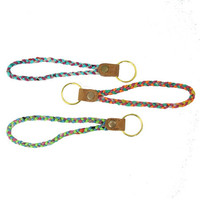 Kantha Braided Keychain - India
